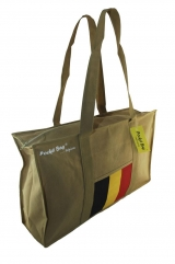 Casual Sport Bag with full length zipper & internal pocket printed with Belgium flag c/w base