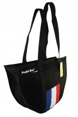 Casual Sport Bag with full length zipper & internal pocket printed with French flag