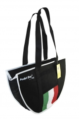 Casual Sport Bag with full length zipper & internal pocket printed with Italian flag  & border