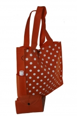 Snow White Dotted - foldable into pouch with 2 side pockets
